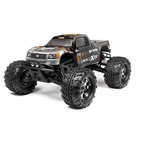 HPI 109083 RTR Savage X 4.6 2.4GHz RTR Silvr/Gun/shipping inc US lower 48 only only
