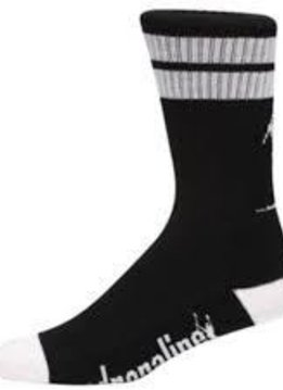 ADRENALINE ADRENALINE MESHTOP SOCK BLACK/WHITE LARGE