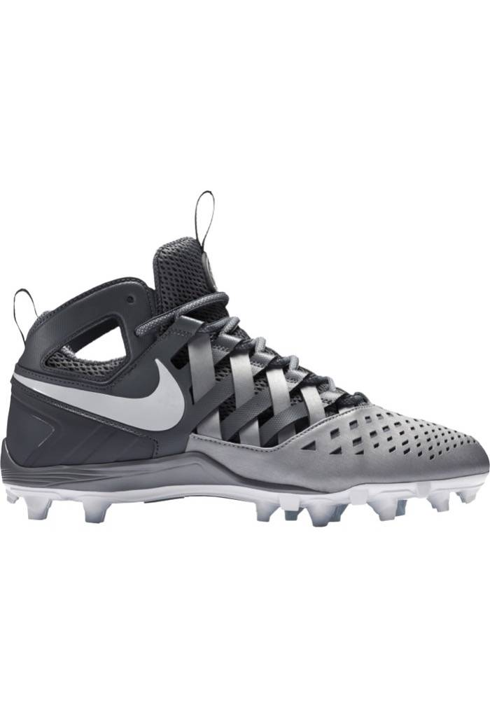 Nike Huarache V Men's Lacrosse Cleat Shoes Cool Grey/Metallic Silver/White