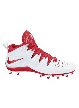 NIKE NIKE HUARACHE 4 LAX CLEAT, WHITE/RED, 9