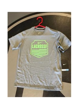NIKE NIKE CREST T-SHIRT, Grey/Green, YM