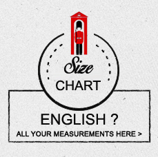 Shirt measurements by size