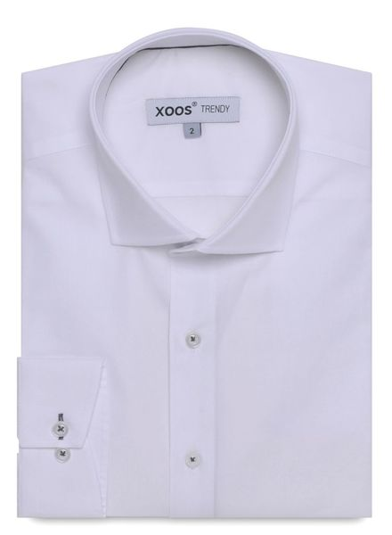 XOOS Chemise blanche doublure gris carbone