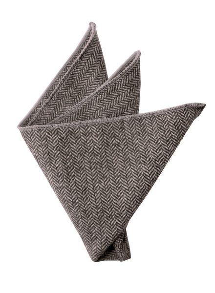 Gray chevron pocket square