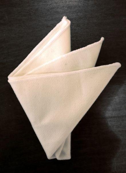 Pochette de costume ivoire