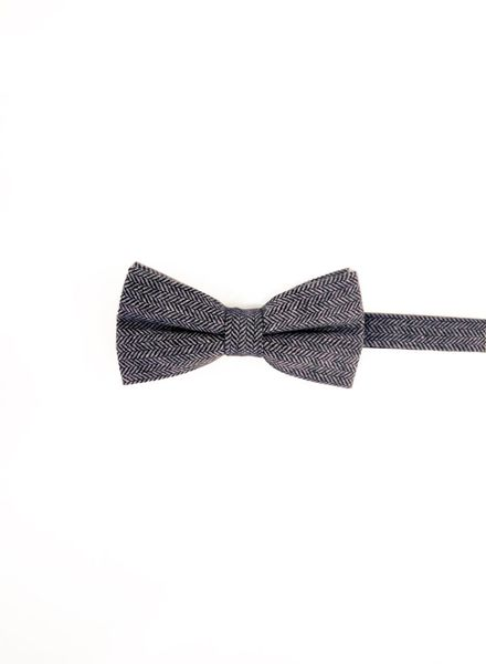 Chevron light gray bow tie