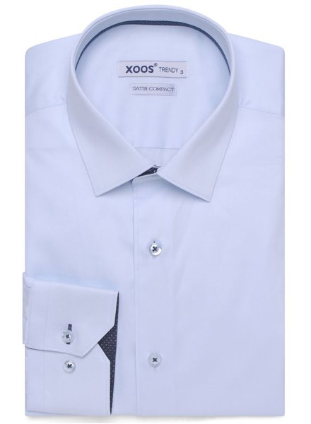 XOOS Blue diamond shirt navy polka dot braid