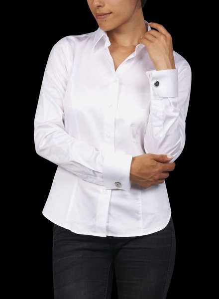 XOOS White WOMAN French cuffs dress shirt