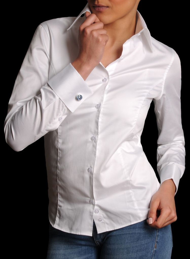 Collection of french cuff dress shirts women best for Dress shirt french cuffs