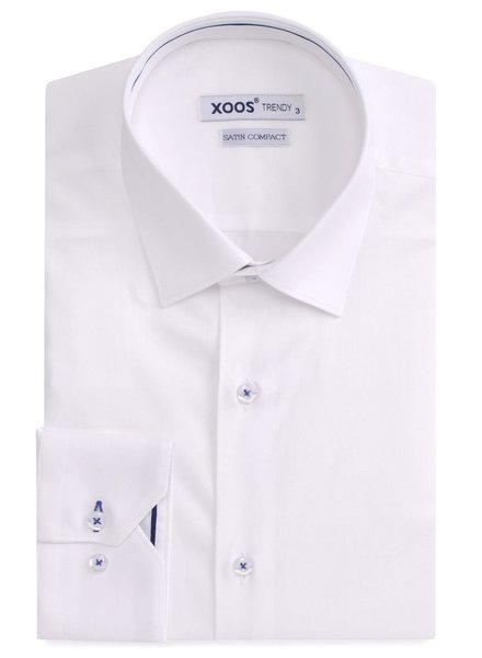 XOOS Chemise homme blanche à galon marine