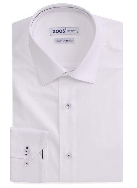 XOOS Chemise homme blanche à galon noir
