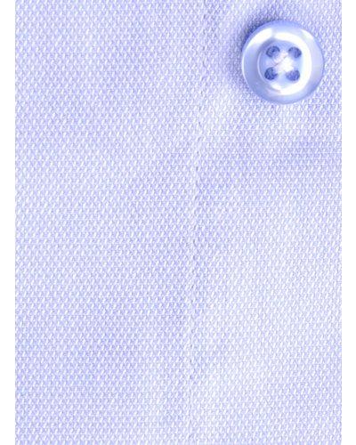 XOOS Chemise homme financière bleue à col blanc