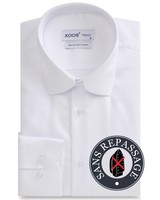 XOOS Chemise homme blanche SANS REPASSAGE - (EASY CARE)