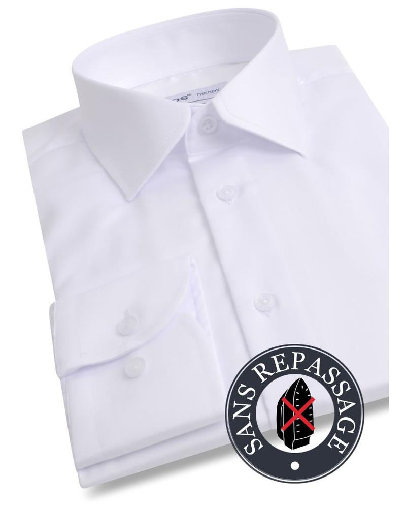 XOOS White NON IRON men's dress shirt (EASY CARE)
