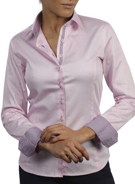 XOOS Chemisier femme rose doublure tissée à carreaux