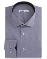 XOOS Navy vichy checks men's fitted dress shirt