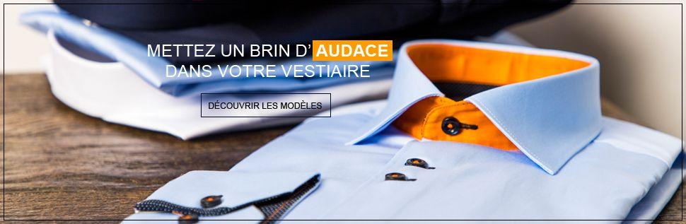 Basique, intemporelle, blanche ou à motifs, découvrez notre catalogue de chemise pour homme à coupe ajustée ou régulière