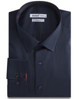 XOOS CLASSIC-FIT Navy men's dress shirt red lining