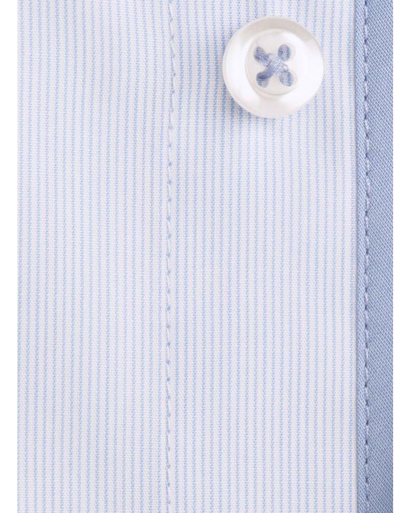 XOOS Fine lightblue striped men's fitted dress shirt