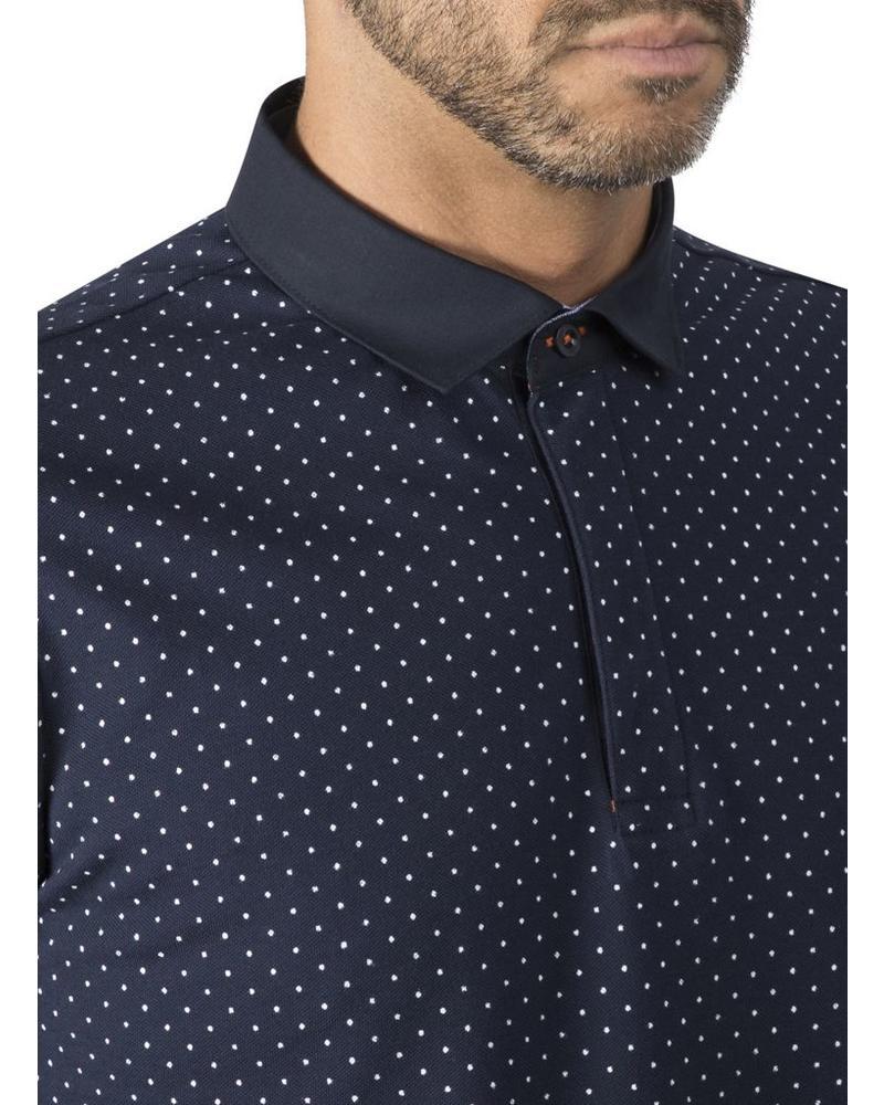 XOOS Navy blue polka dots polo shirt for men