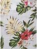 XOOS Chemisier femme tropicale à motifs imprimés fleuris galon corail