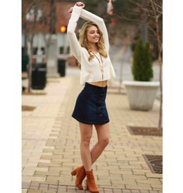 Skirts 62 Button Me Down Denim Skirt