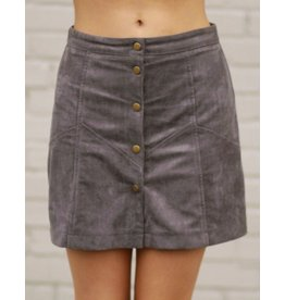 Skirts 62 Suede Button Up Grey Skirt