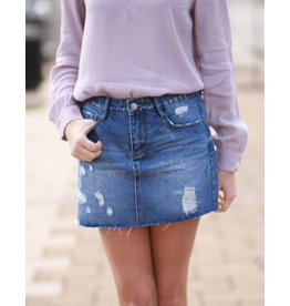 Skirts 62 Distressed Denim Skirt