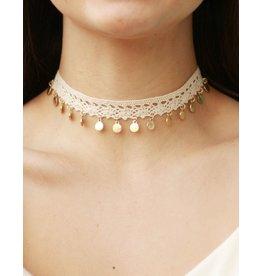 Jewelry 34 Drop Disk Crochet Choker