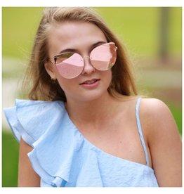 Accessories 10 Reflective Rose Gold Sunglasses