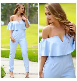 Default Chic Off Shoulder Jumpsuit