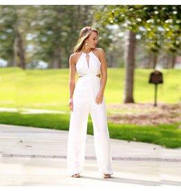Jumpsuit Chic Peek White Summer Jumpsuit
