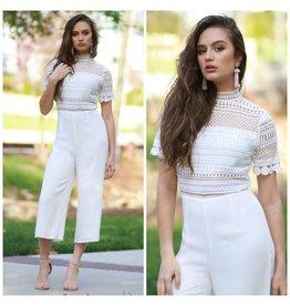 Jumpsuit White Out Lace Jumpsuit