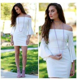 Dresses 22 Frill Of The Moment White Dress