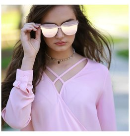 Accessories 10 Trend Starter Reflective Rose Gold Sunglasses