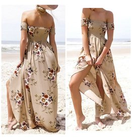 Dresses 22 Chasing Wildflowers Beige Maxi Dress