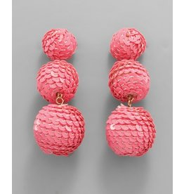 Jewelry 34 3 Sequin Ball Linear Earrings