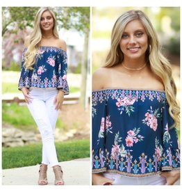 Tops 66 Time To Bloom Off Shoulder Top