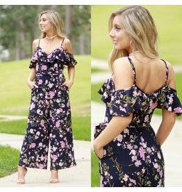 Jumpsuit Full Bloom Navy Jumpsuit