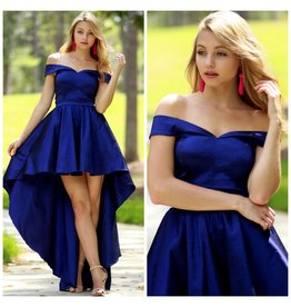 Formalwear Fabulous Hi-Lo Royal Formal Dress