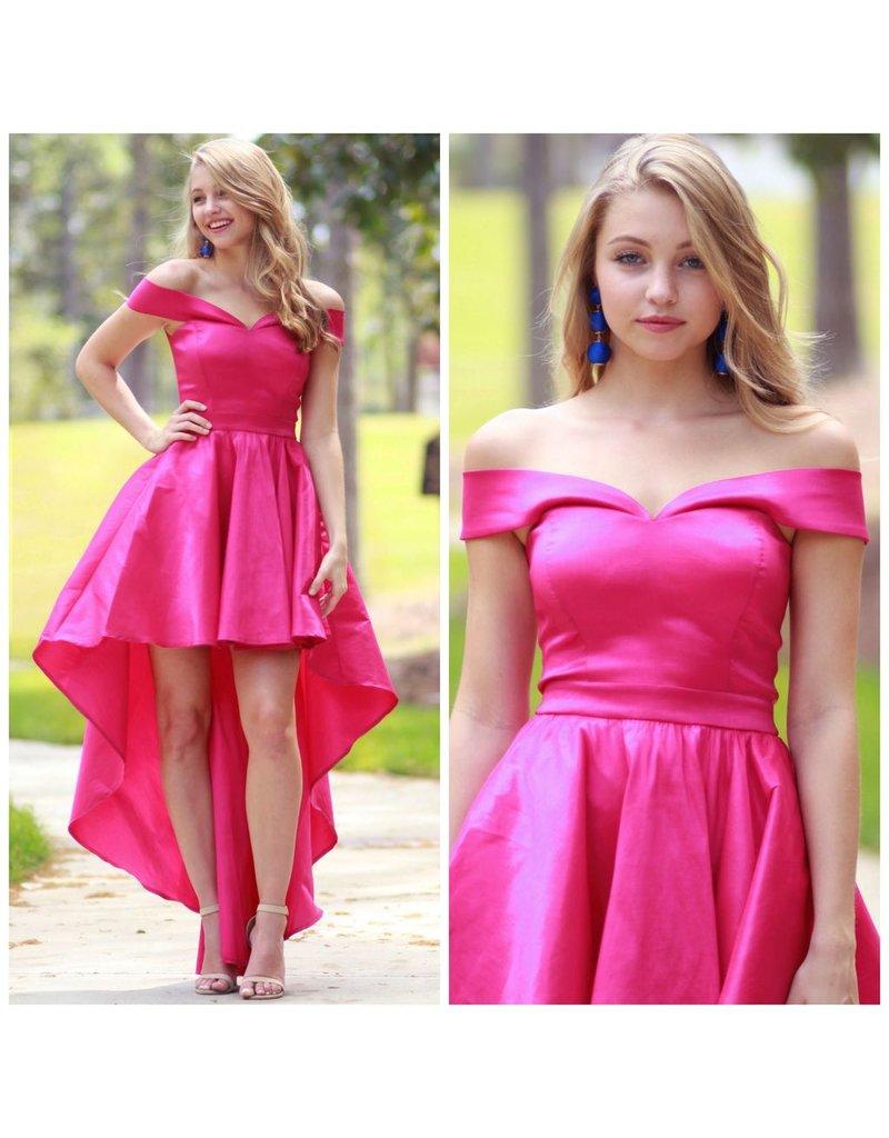 Dresses 22 Fabulous Hi-Lo Pink Formal Dress