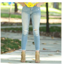 Pants 46 Moderate Distressed Med Light Skinny Denim Jeans