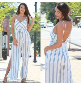 Jumpsuit Summer Sail Away Stripe Jumpsuit