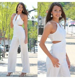 Jumpsuit Chic Peek White Summer Jumpsuit