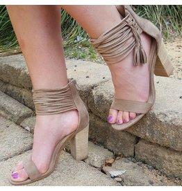 Shoes 54 Mirage Summer Taupe Tassel Sandal