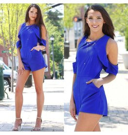 Rompers 48 Sun On My Shoulders Cobalt Blue Romper