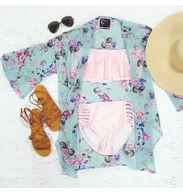 Rompers 48 Summer Floral Mint Kimono