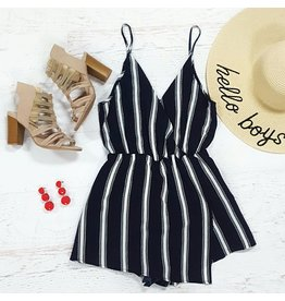 Rompers 48 Summer & Stripes Navy Romper