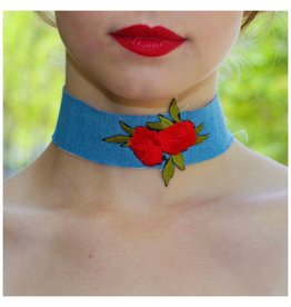 Jewelry 34 Rose & Denim Choker