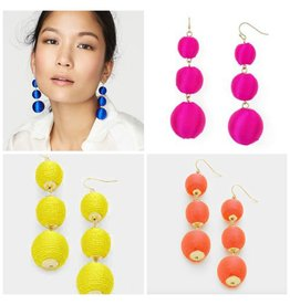 Jewelry 34 Fun Bon Bon Thread Ball Earrings